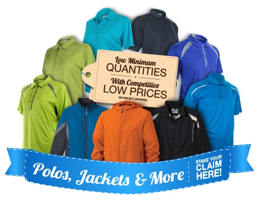 Low 6 Piece Minimum Quantity on Custom Embroidered Apparel from Quality Logo Products.