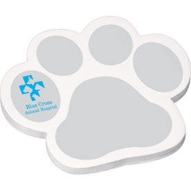 "Die Cut Adhesive Notepad - Paws (25 Sheets, 4"" x 4"")"