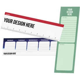 "Post-It Custom Printed Organizational Notes (3"" x 10"", 25 Sheets)"