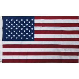 2-Ply Polyester US Flags with Heading and Grommets (60