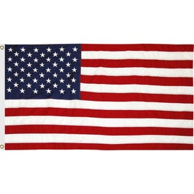 US Cotton Flags with Heading and Grommets (36