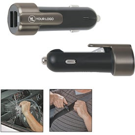 Car Charger with Escape Safety Tool