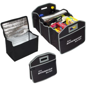 Cargo Organizer with Cooler Bag Black