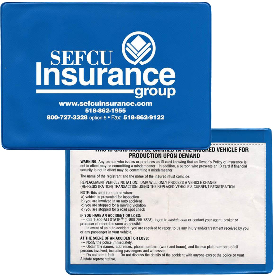 Click Here To Order Insurance Card Holders Printed With Your Logo For 30 Ea