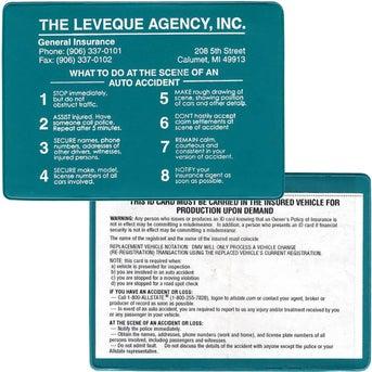 Insurance Card Holder Hot Stamp
