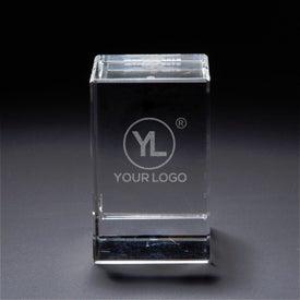 3D Crystal Block Award (Medium)