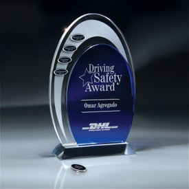Blue and Optic Crystal Arches Award