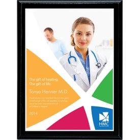 """Digi-Color Plate on Economy Plaque (7"""" x 9"""")"""