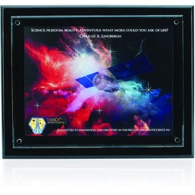 Floating Glass Plaque