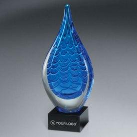 Indigo Stream Art Glass Award (Large)