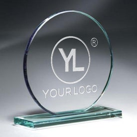 "Jade Glass Circle Award (6.5"" x 6.375"")"