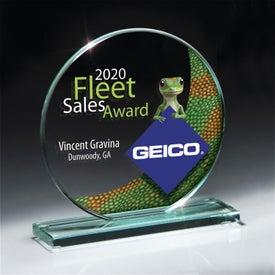 Jade Glass Circle Award (Medium)