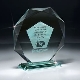 Jade Impressions Octagon Award on Base