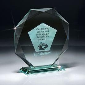 Jade Impressions Octagon Award on Base