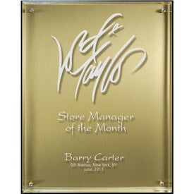 Lucite Riser Plaque with Choice of Plate