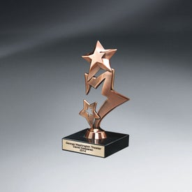 Metal Stars on Marble Award (Small)