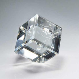 Optic Clear Crystal Cube (Medium)