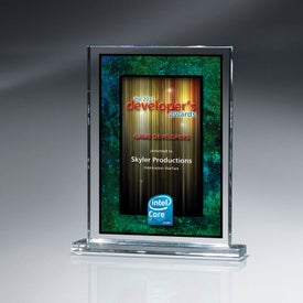 Optic Crystal Rectangle Award (Large)