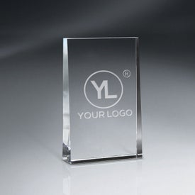 "Optic Crystal Wedge Award (4"" x 7"")"