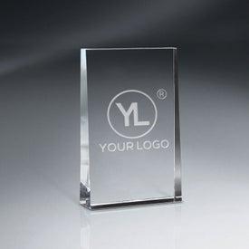 Optic Crystal Wedge Award (Medium)