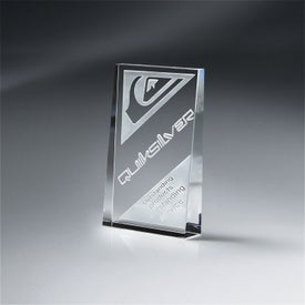 Optic Crystal Wedge Award (Small)