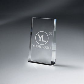 Optic Crystal Wedge Award (Small)