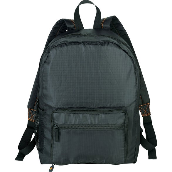 Black Bright Travels Packable Backpack