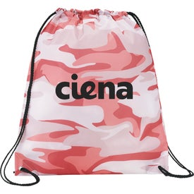 Camo Oriole Drawstring Cinch Backpacks
