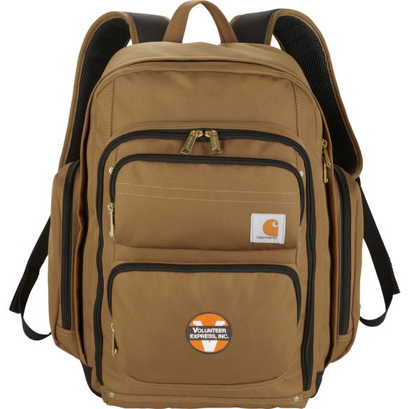 Brown Carhartt Signature Deluxe Work Compu-Backpack