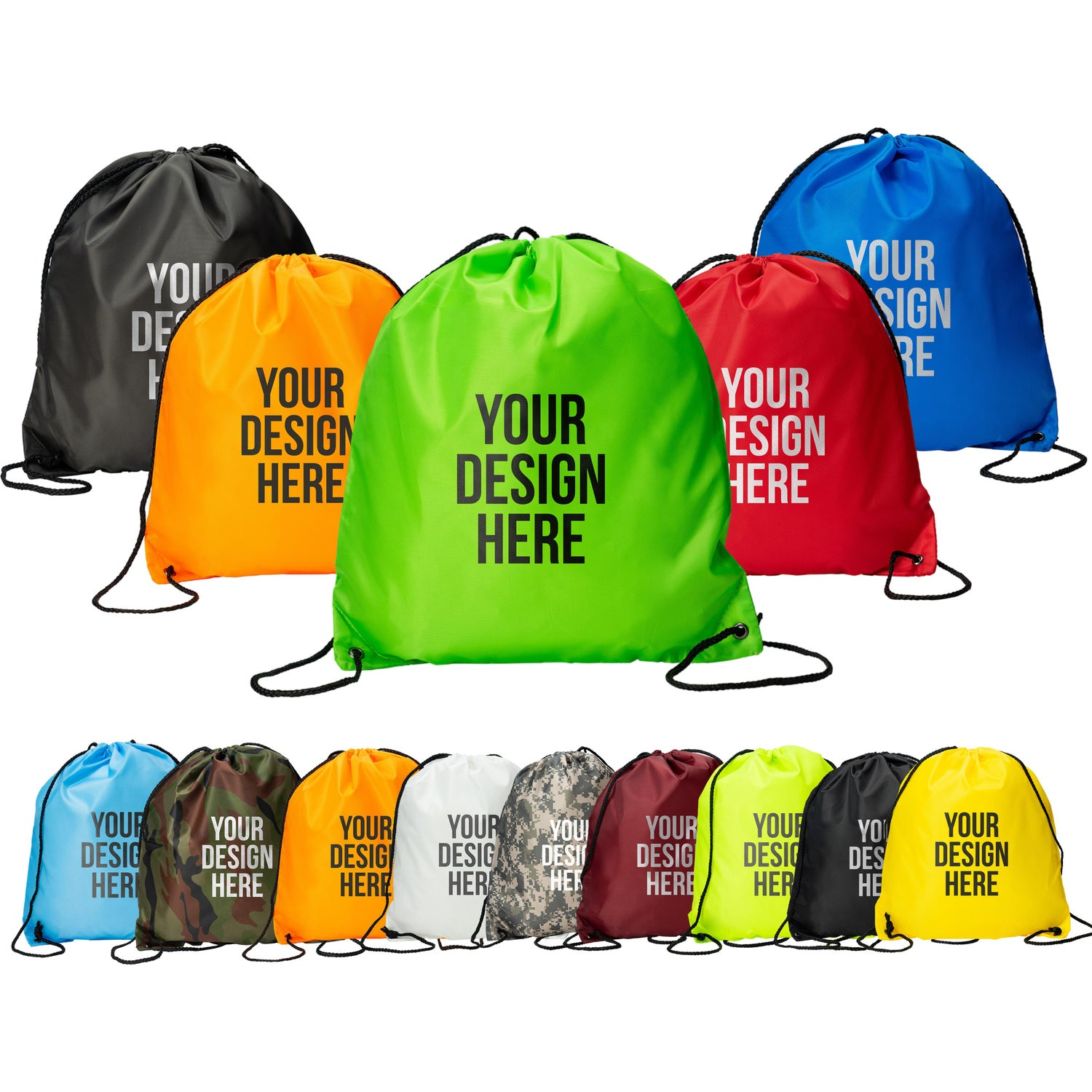 Classic Polyester Drawstring Backpack