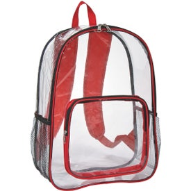 Clear Backpack with Your Slogan