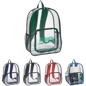 Branded Clear Backpack