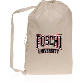 Collegiate Natural Cotton Laundry Bag