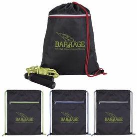 Contrast Zip Drawstring Backpack
