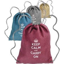 Cromwell Linen Drawstring Backpack