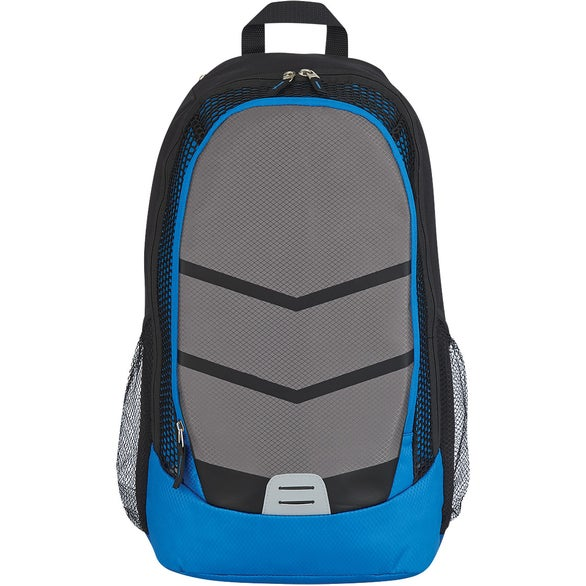 Royal Blue / Gray Diamond Lattice Accent Backpack