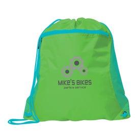 Duo Color Mesh Pocket Sports Drawstring Backpack