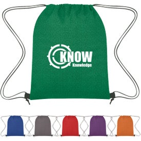 Heathered Non-Woven Drawstring Backpacks