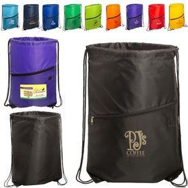 Incline Drawstring Backpack with Zipper