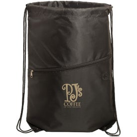 Incline Drawstring Backpacks with Zipper