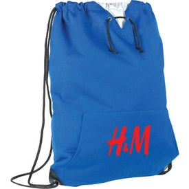 Jersey Sweatshirt Drawstring Bag
