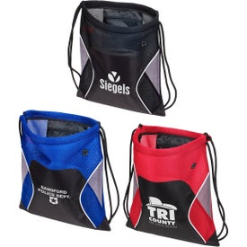 Jumbo Globetrotter Drawstring Backpack
