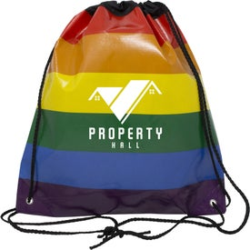 Jumbo Rainbow Drawstring Backpack