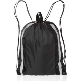 Large Reflector Drawstring Backpacks