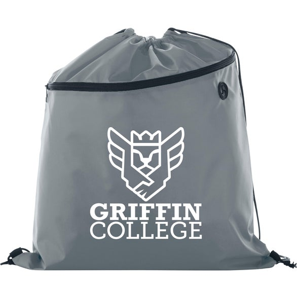 Gray Large Robin Drawstring Sportspack