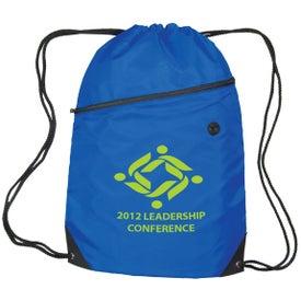 Luna Polyester Drawstring Backpack