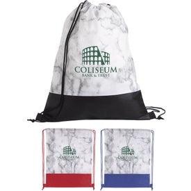 Marble Drawstring Backpack