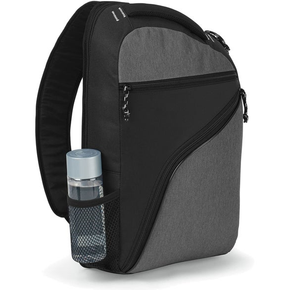 Black / Heather Gray McKinley Computer Sling Bag