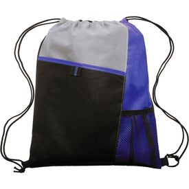 Mesh Pocket Drawstring Backpack