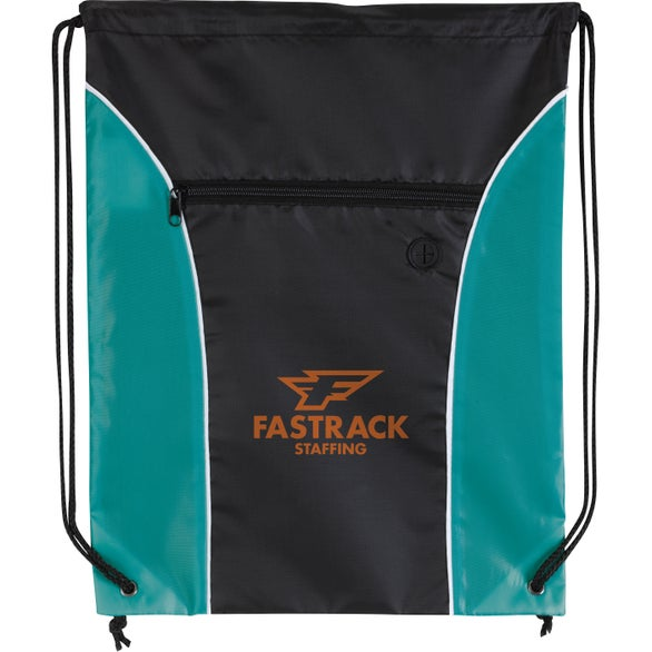 Teal / Black Midpoint Drawstring Backpack